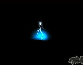 3D Electric Ground Spell Cast