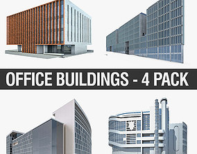 3D asset Office Buildings Collection 01
