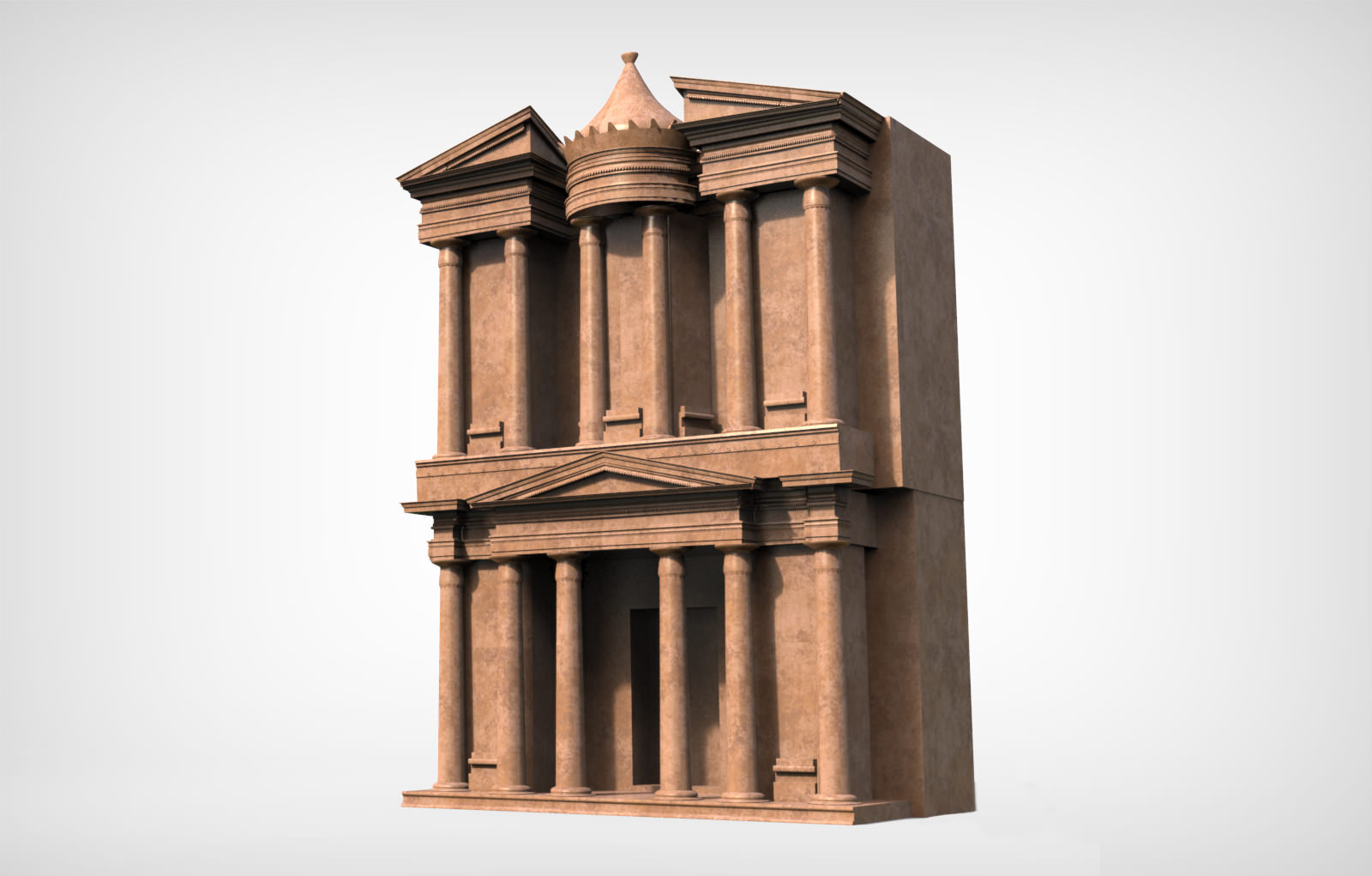 Petra Al Khazneh Or The Treasury At Petra Free 3D Model