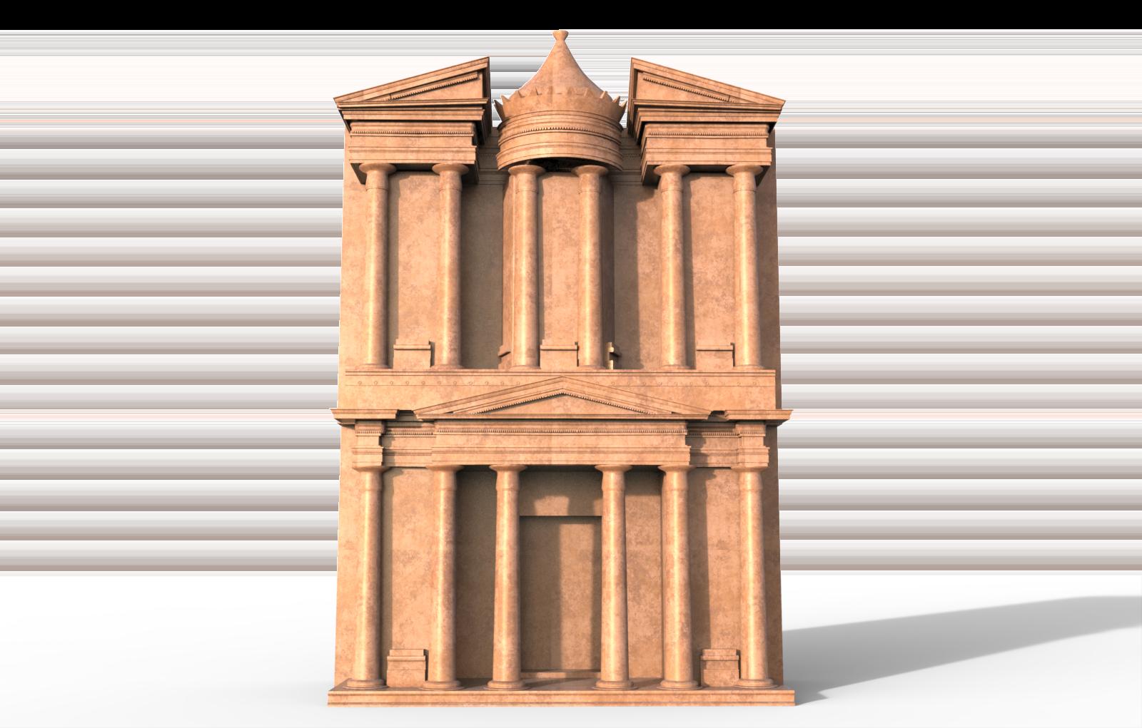 Petra Al Khazneh Or The Treasury At Petra Free 3d Model Max Obj 3ds Fbx Dwg Cgtrader Com