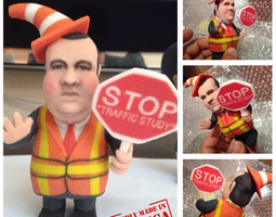Chris Christie directing traffic BridgeGate 3D Model
