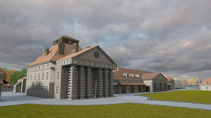 the royal salt factory of arc-et-senans 3d model lwo lw lws 1