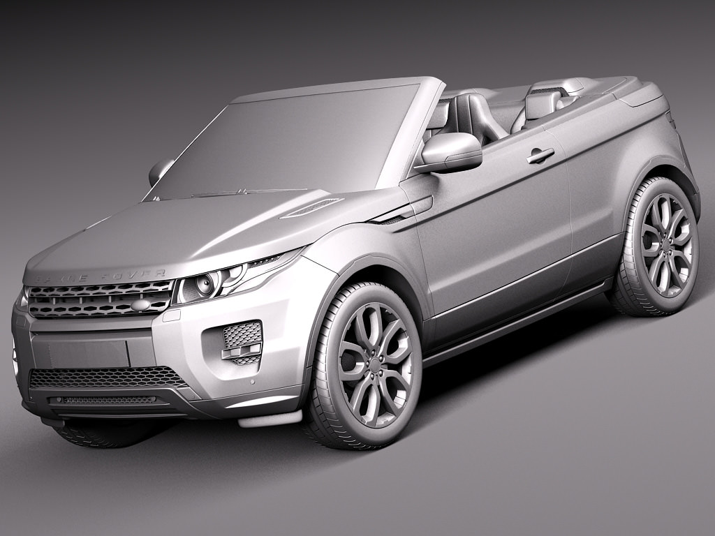 range rover evoque convertible 2014 3d model max obj. Black Bedroom Furniture Sets. Home Design Ideas