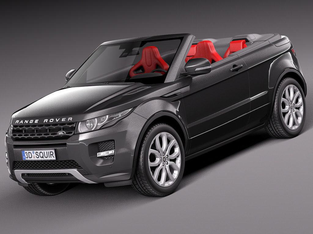 range rover evoque convertible 2014 3d model max obj 3ds fbx c4d lwo lw lws. Black Bedroom Furniture Sets. Home Design Ideas