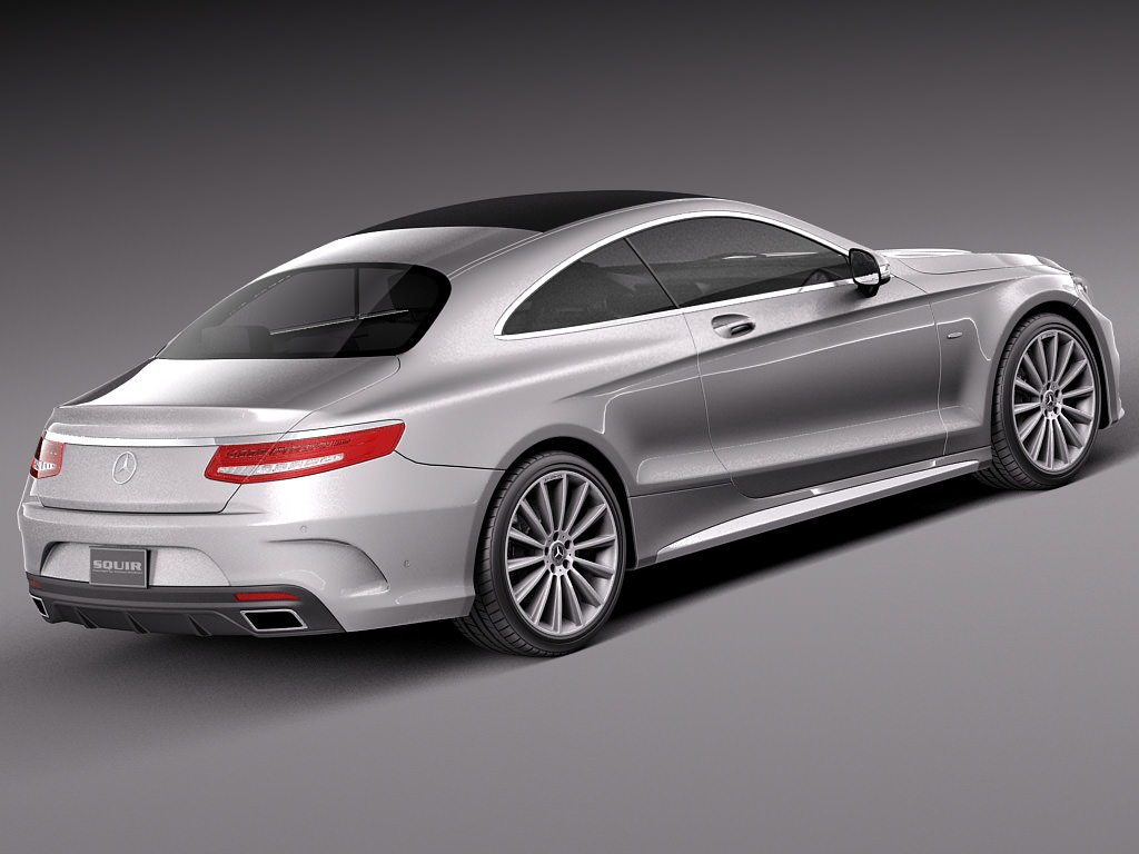 Mercedes benz s class coupe 2015 3d model max obj 3ds fbx for New mercedes benz models