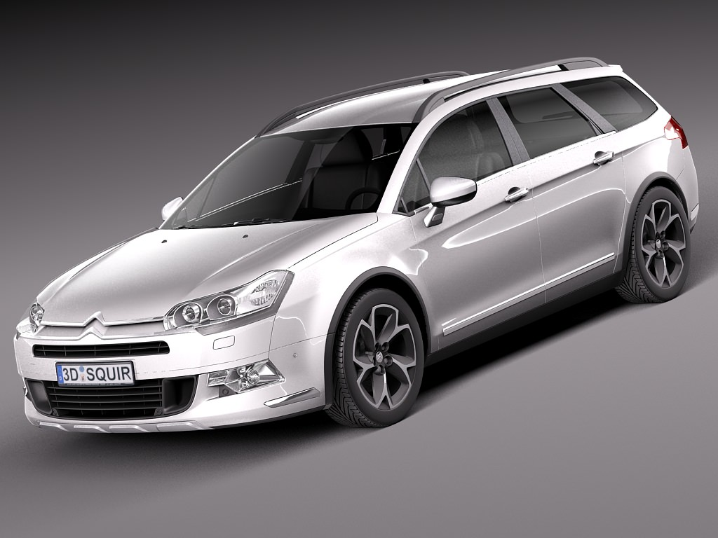 citroen c5 crosstourer 2014 3d model max obj 3ds fbx c4d lwo lw lws. Black Bedroom Furniture Sets. Home Design Ideas