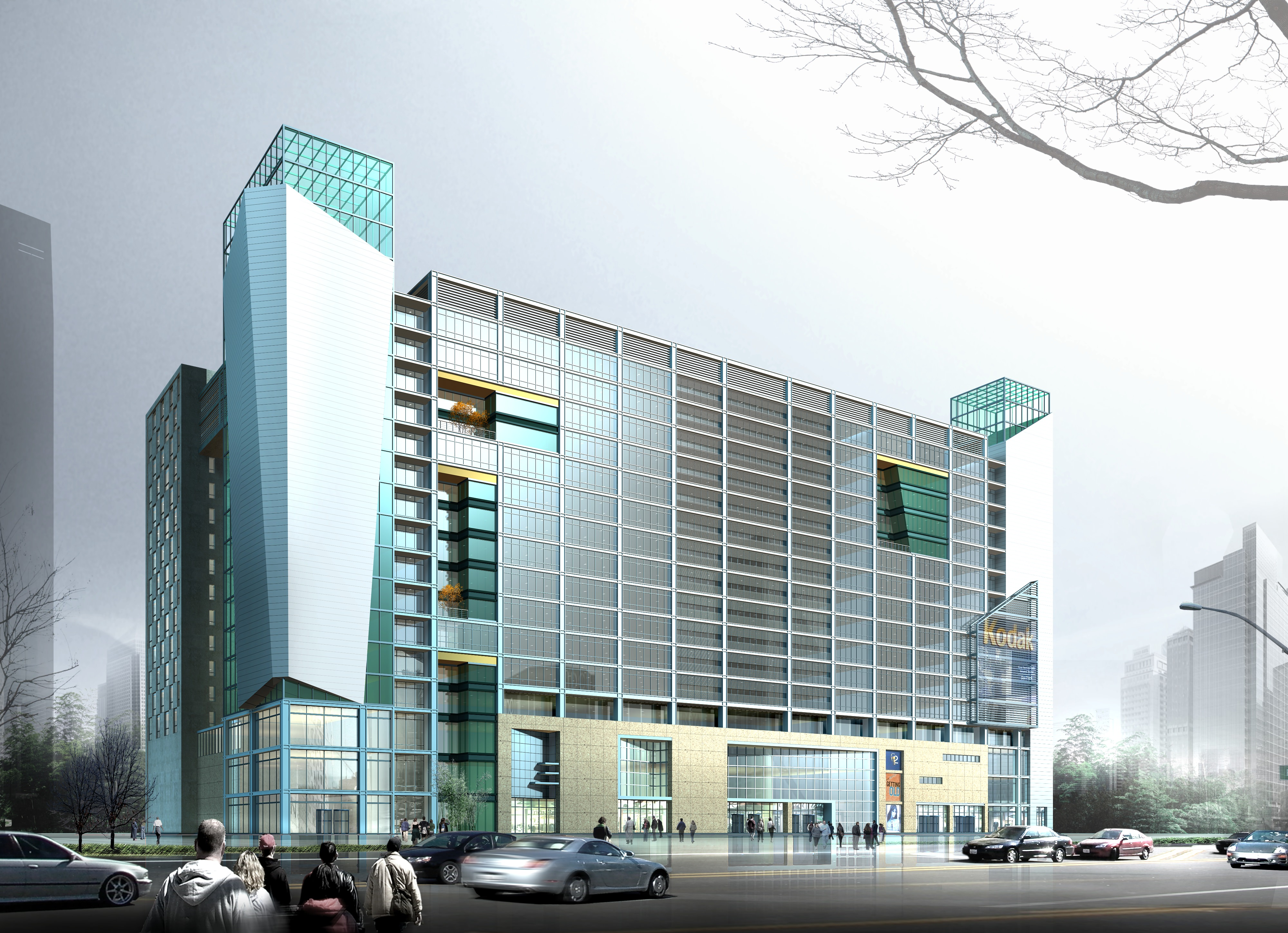 Modern building for commercial use 3d model cgtrader com