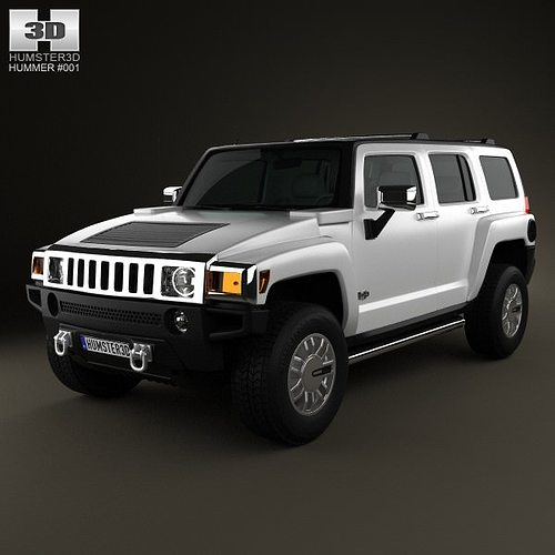 Hummer H3 3D Model MAX OBJ 3DS FBX C4D LWO LW LWS