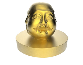 3D print model Sculpture of Buddha faces