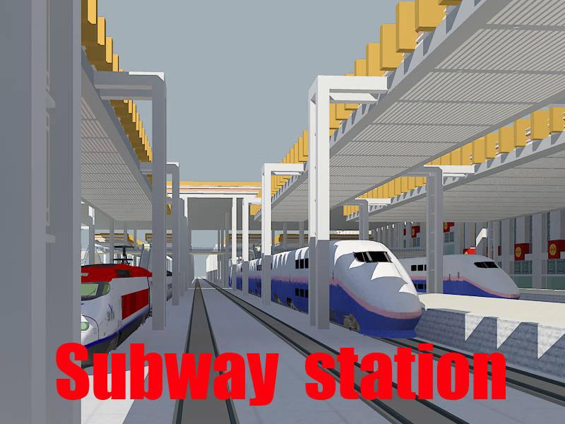 Modern Railway Station   3D model
