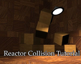 Reactor collision animation start scene 3D model