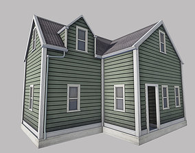 abandoned 3D asset game-ready Boston House