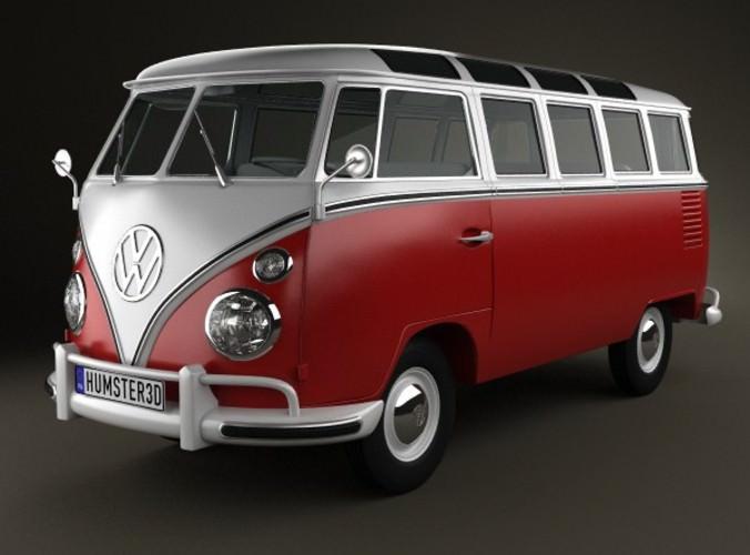 Volkswagen Transporter T1 1950 3D Model MAX OBJ 3DS FBX ...