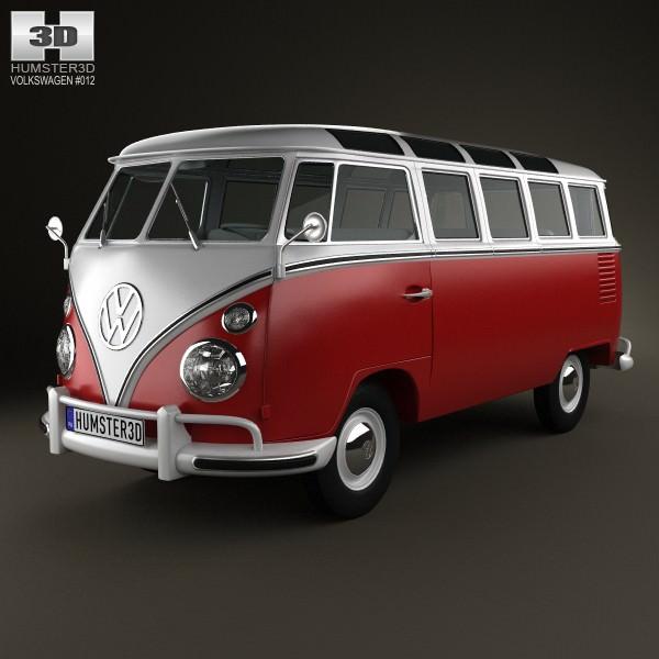 volkswagen transporter t1 1950 3d model max obj 3ds. Black Bedroom Furniture Sets. Home Design Ideas