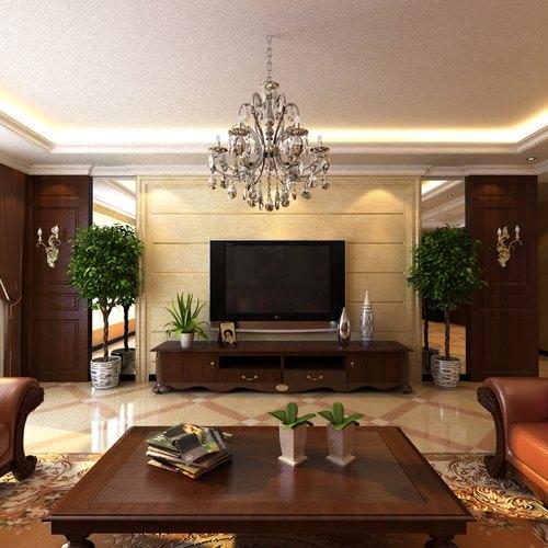 3D Home Interior With Posh Floor