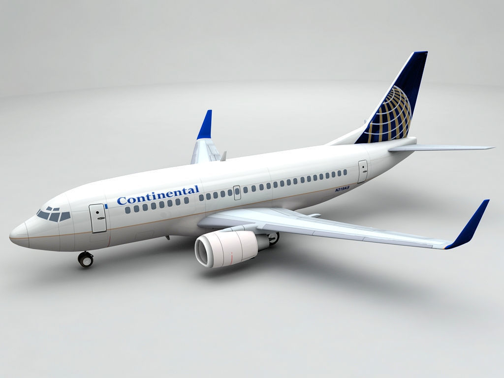Airliner Boeing 737 500 Airliner Continental 3d