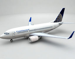 airliner Boeing 737-500 Airliner - Continental 3D
