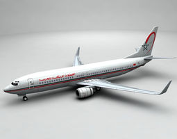 3D asset Boeing 737-800 NG Airliner - Royal Air Maroc