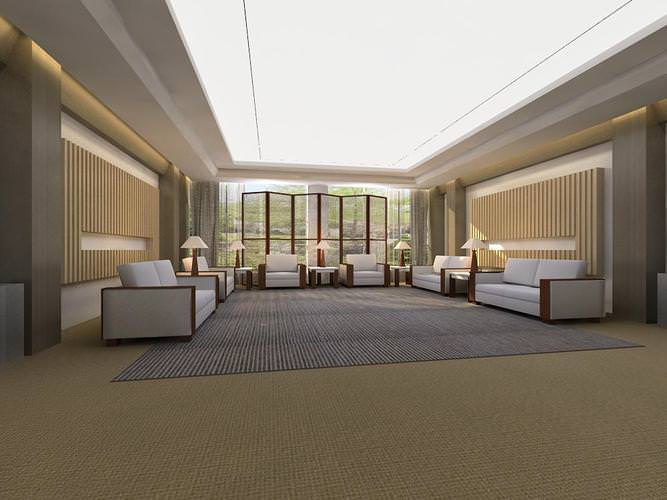 Lavish Carpeted Antechamber for Offices3D model