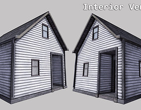 Boston House 03 - Enterable 3D asset