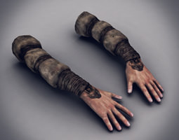 Male Arms Textured 5 3D Model