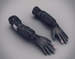 Male Arms Uniformed 2 3D Model