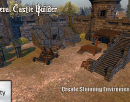 3d asset game-ready medieval castle builder 1 0