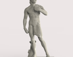 David of Michelangelo with a sock 3D Model