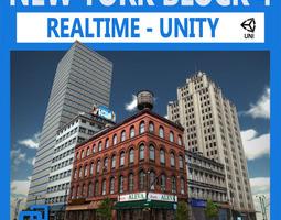 NYC Block 4 Unity 3D Model