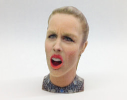 Ashley Wagner's Olympic Angry Face 3D Model