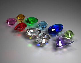 3D model Gem Stones Pack