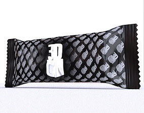 3D asset Chocolate snack bar wrapper