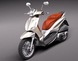 Piaggio bv tourer 300 2011 3D Model 3D Model