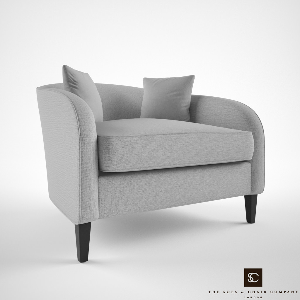 Tremendous The Sofa And Chair Company Richmond Armchair 3D Model Creativecarmelina Interior Chair Design Creativecarmelinacom