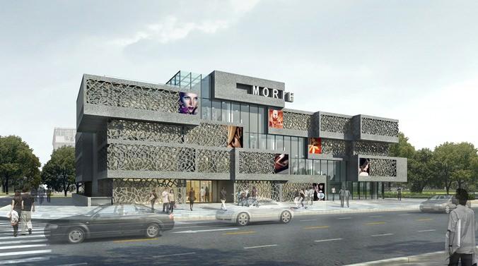 modern shopping center 3d model max   cgtrader