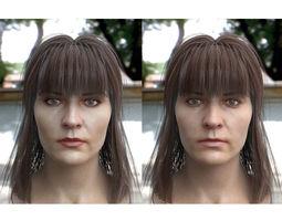 3D asset woman head photorealistic female V3
