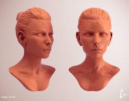 3D Female Head 39