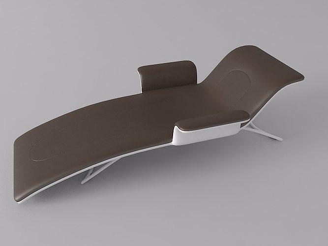 simple armchair 1 3d model max obj 3ds 1