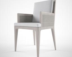3d model baker carmel cane dining chair