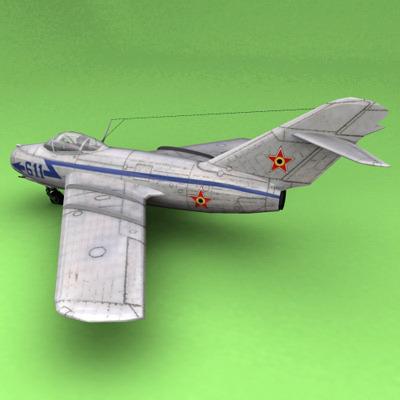 MiG-15 Romania3D model