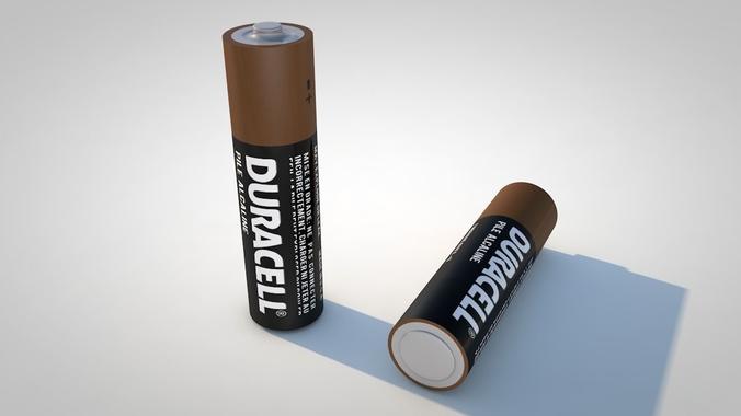 aa battery 3d model c4d 1