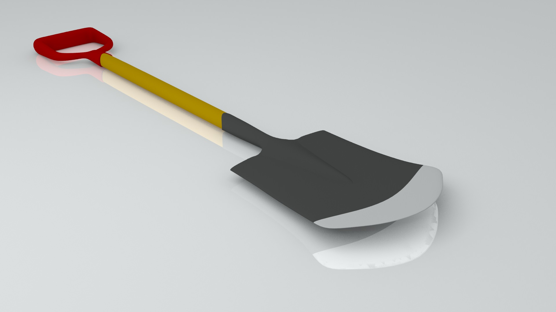 Shovel 3d model 3ds for Gardening tools 3d model