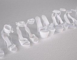 highheel shoe 3D