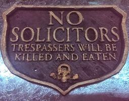No Trespassing door crest 3D Model