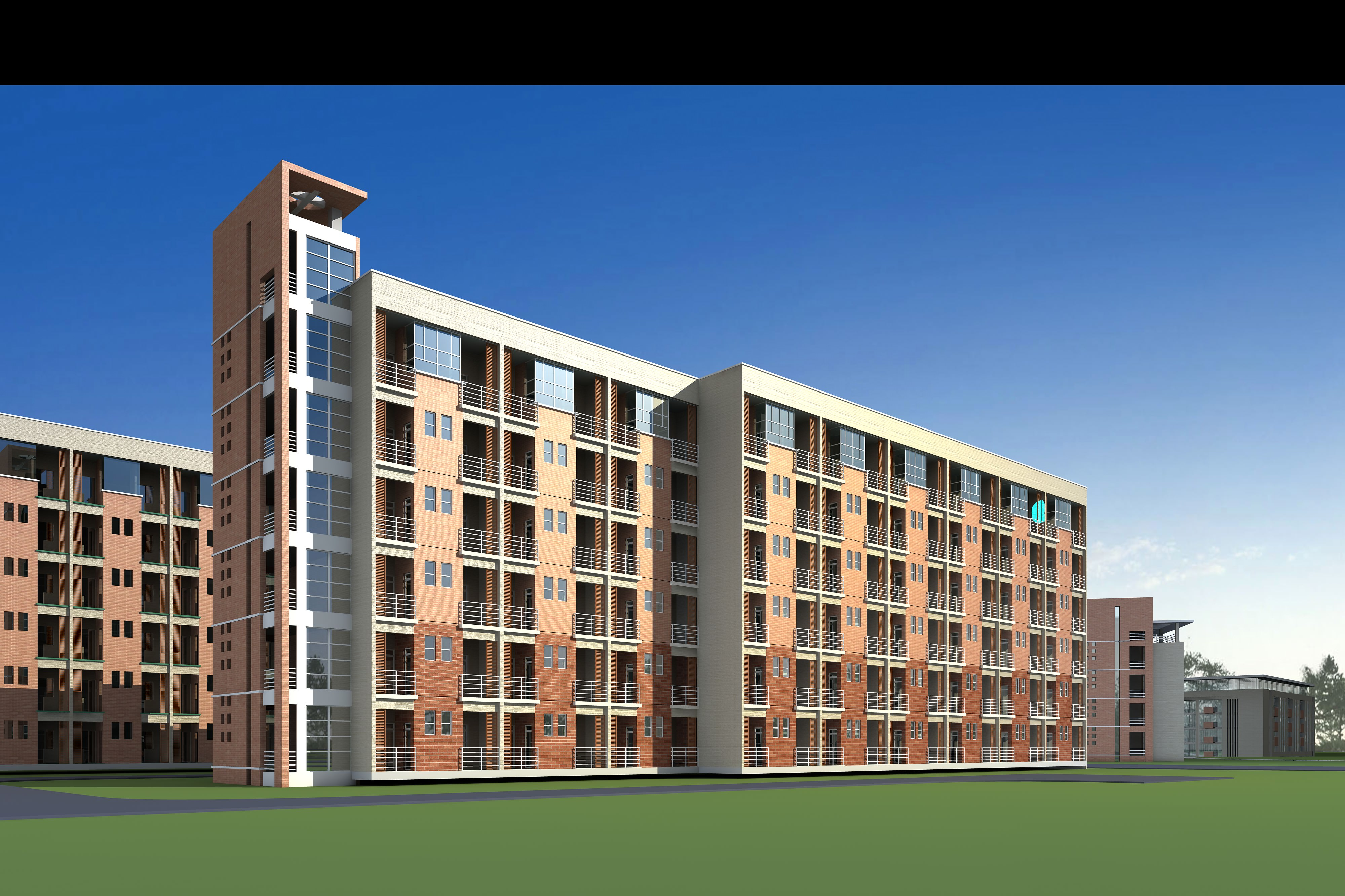 Image gallery multi storey building for Multi storey apartment modern design