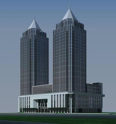 Twin Skyscraper3D model