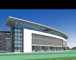 3D model Exclusive Building for Commercial Use