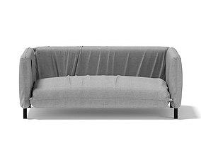 Large Grey Armchair 3D