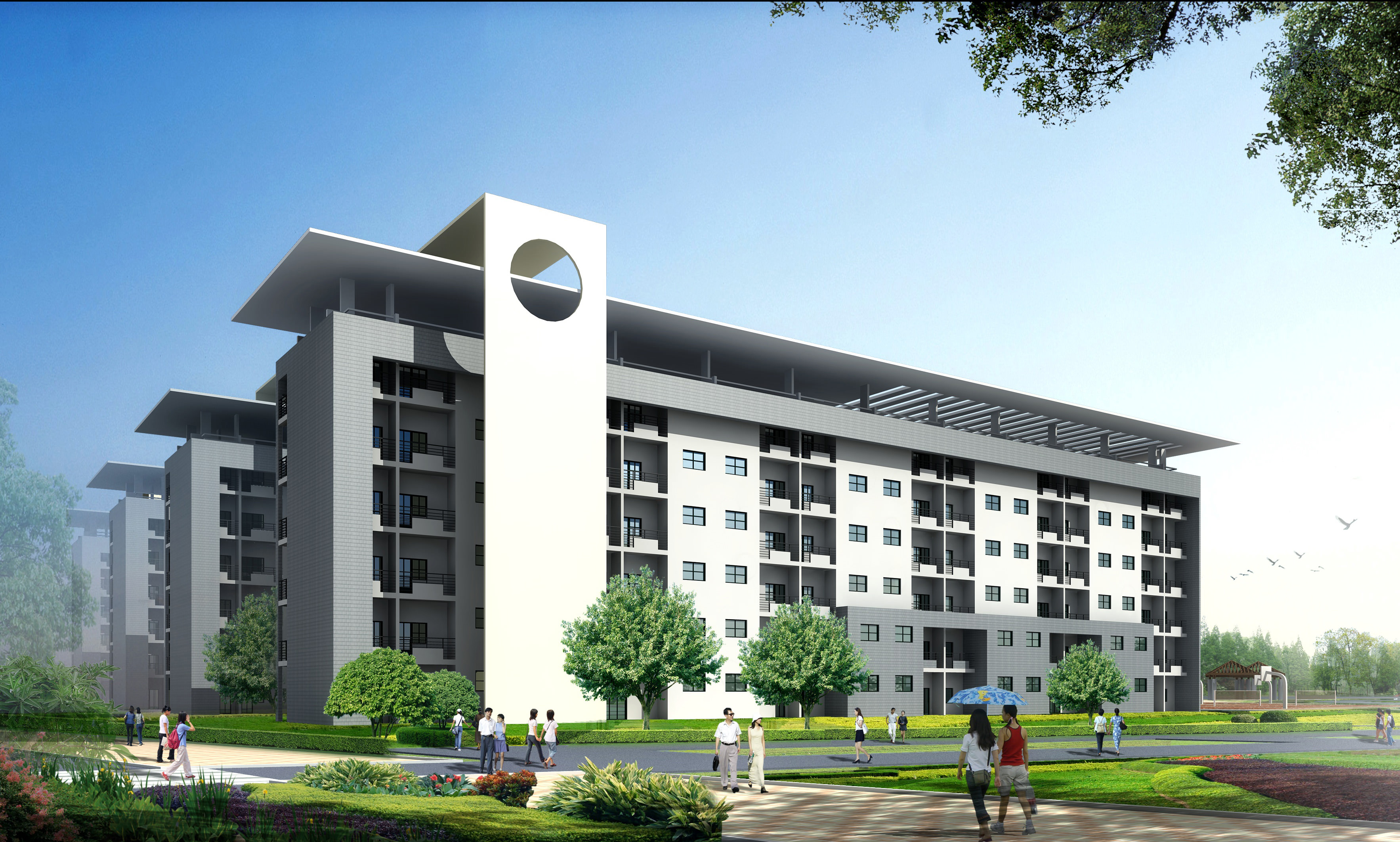 Building for hostels apartments 3d model max 3ds for 3d apartments