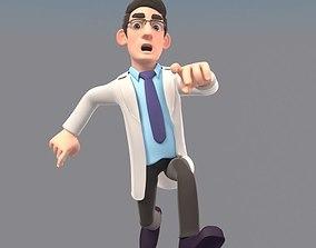 3D animated CARTOON DOCTOR MAN AND WOMEN
